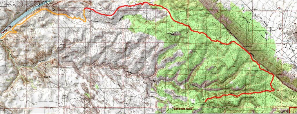 Map of Porcupine Rim Trail