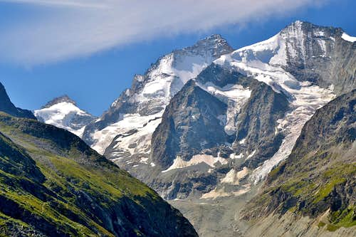Pointe de Zinal, Dent Blanche and Grand Cornier