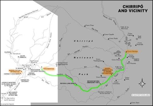 Chirripo Map