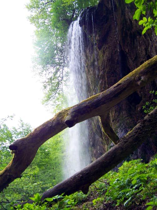 The Jankovac waterfall