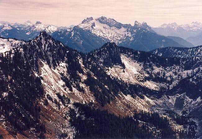 At center are Gunn Peak and...