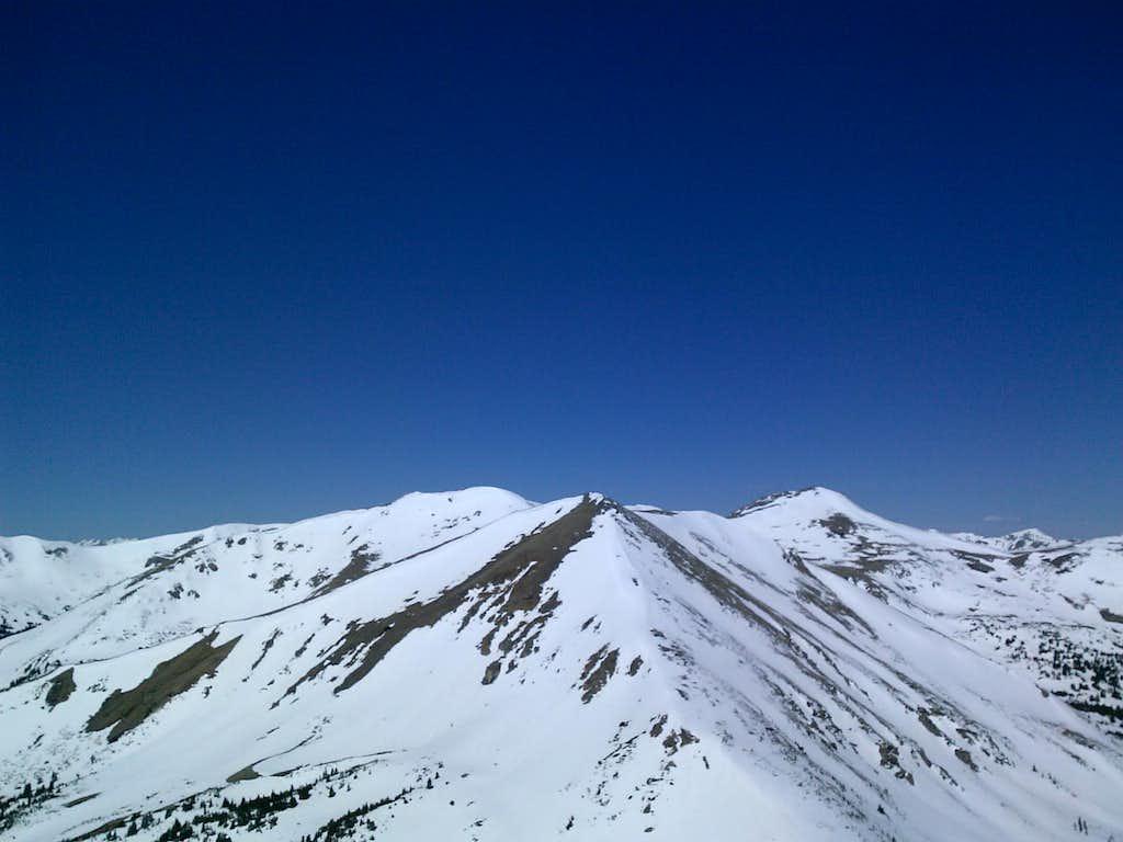 Stanley Mountain summit looking west