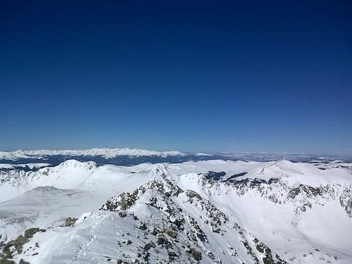 Quandary Peak summit looking west
