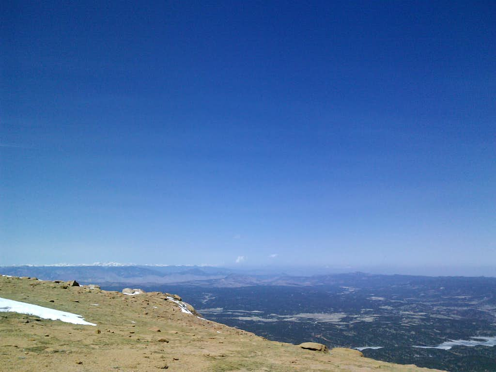 Pikes Peak above treeline looking east