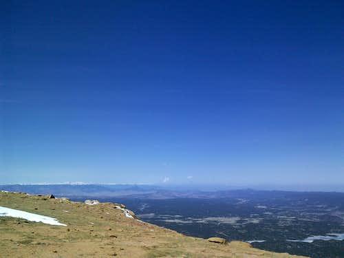 Pikes Peak above treeline looking east