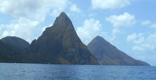 Petit Piton and Gros Piton