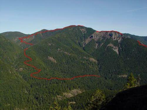 Ogle Mtn. trail thru Henline's back door