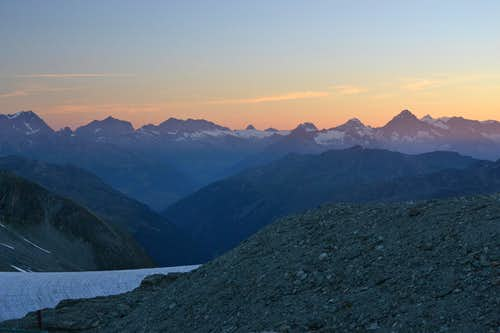Early morning view to the Bernese Alps