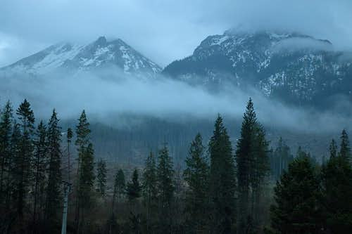 White Tatras in evening haze