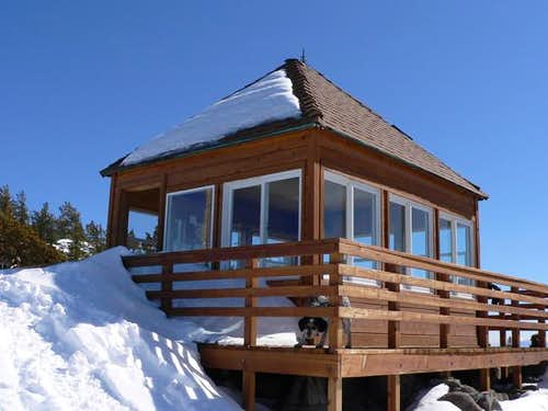 Fire lookout at the summit of...