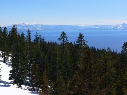 South shore of Lake Tahoe...