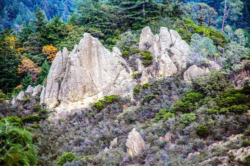 Rock formations near the trail