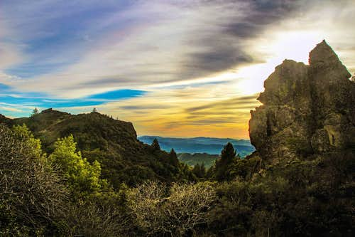 Table Rock (left) Napa Valley Palisades