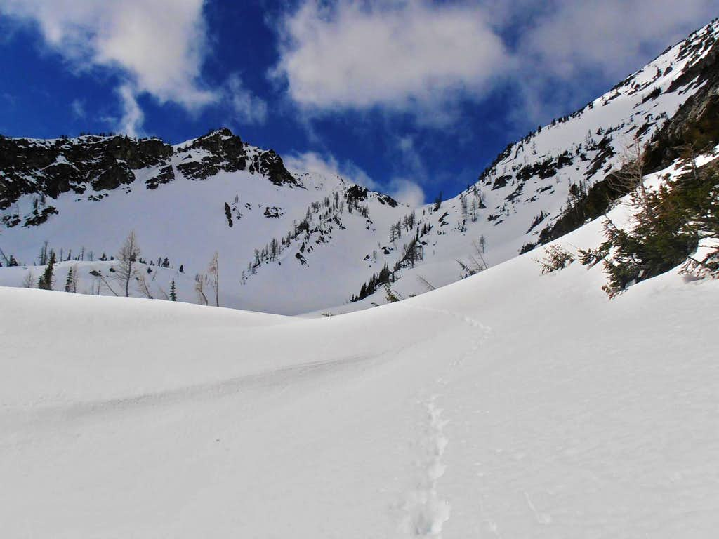 into the second basin