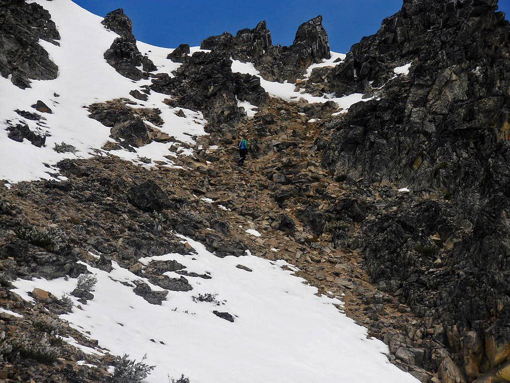 Matt Lemke nears the summit