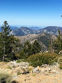 San Gabriel Mountains from Throop Peak Summit