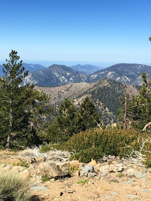 San Gabriel Mountains from Throop Peak Summit