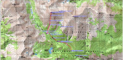 topo map of route