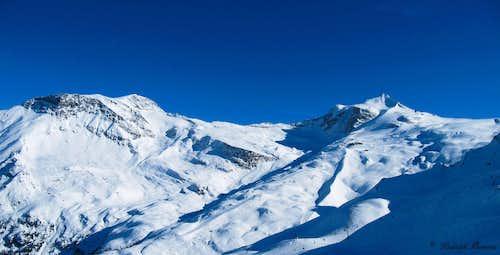 Hoher Riffler (3220m) and Gefrorene Wandspitzen (3288m)