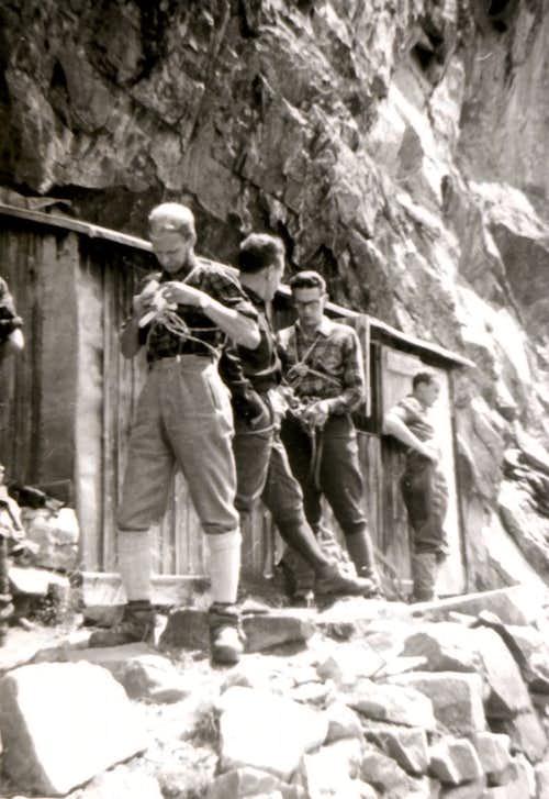 Monzino/Borelli Crossing in Val Veny in the Sixties 1968
