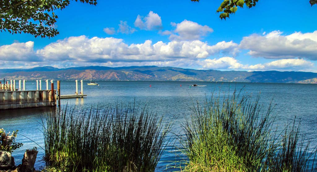 Looking north across Clear Lake from Lakeport
