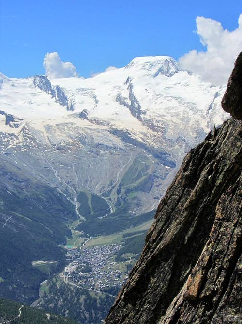 Alphubel towering over Saas Fee