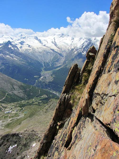 The Mischabel ridge from Alpendürst