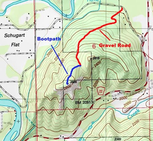 Main route to the summit