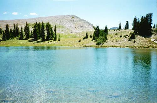 Lofty Lake sits almost on the...
