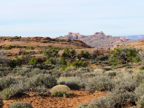 On slickrock dome trail