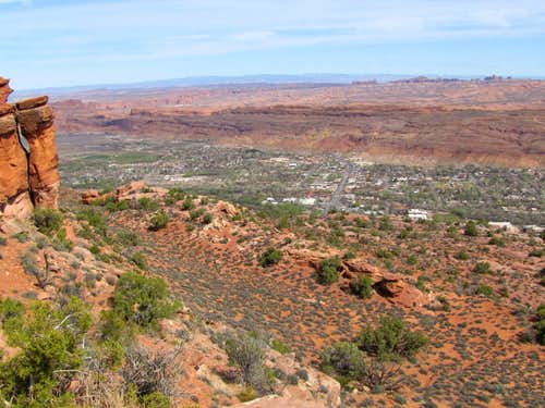 Downtown Moab from Moab Viewpoint
