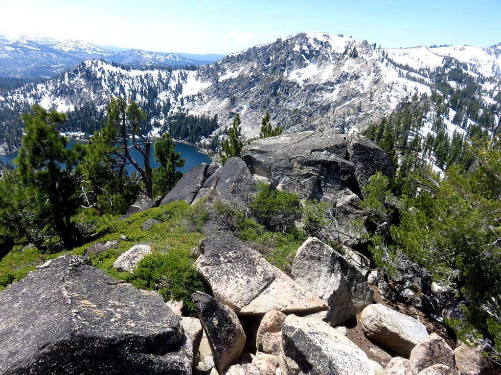 View over Frog Lake to Frog Lake Cliff/Overlook
