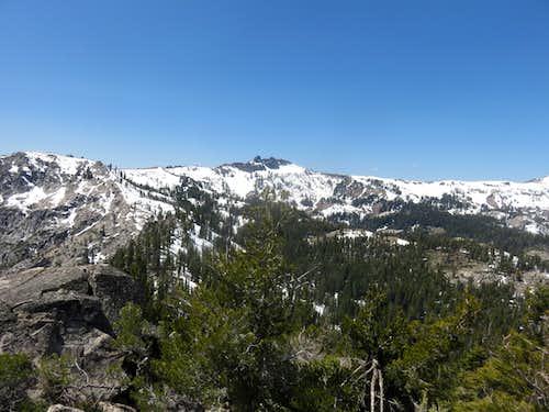 View to Castle Peak 9,103' from Frog Lake Peak 8,428'