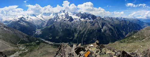 Mischabel Group panorama from the summit of Jägihorn