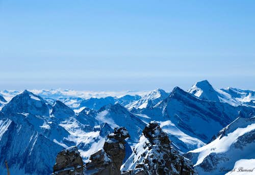 Wurmaulspitze (3022m), Grabspitze (3055m)  and Wilde Kreuzspitze (3123m)