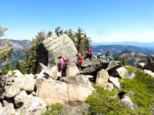 Group on the summit