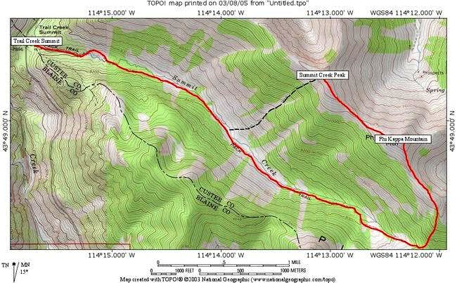 This is the topo map and...