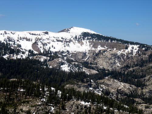 Basin Peak 9,017' from Frog Lake Peak 8,428'