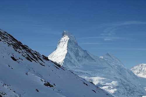 Behind the Matterhorn the...