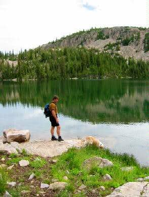Kamas Lake. Lofty Lake sits...