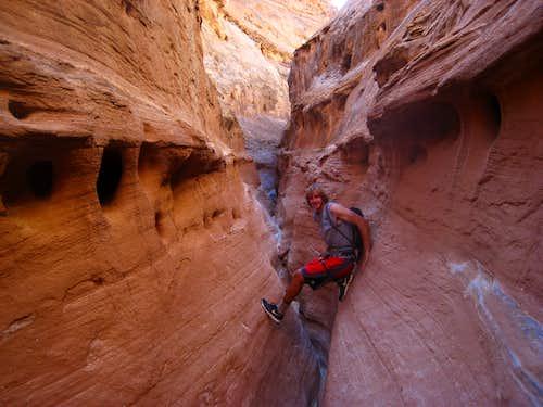 Working my way through Buck Canyon
