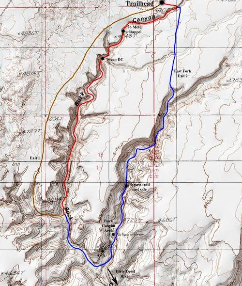 Buck Canyon Map