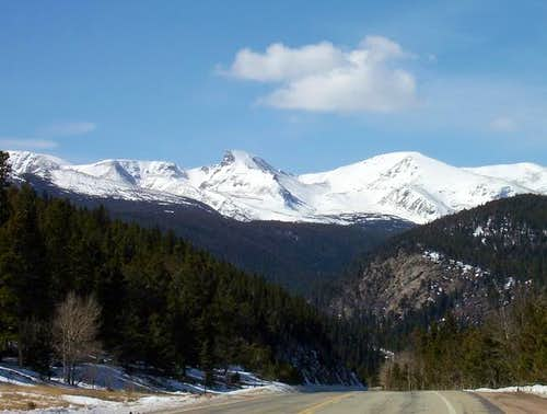Sawtooth Mountain seen from...