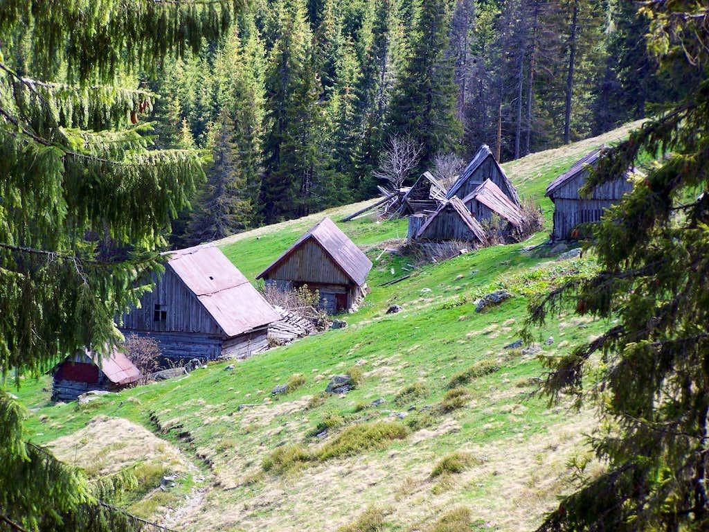 Hill farm on Piatra Grăitoare