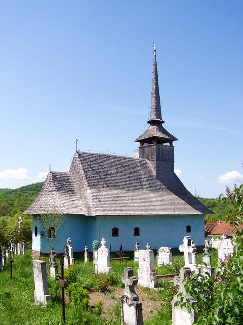 The wooden church of Fînaţe/Fonóháza