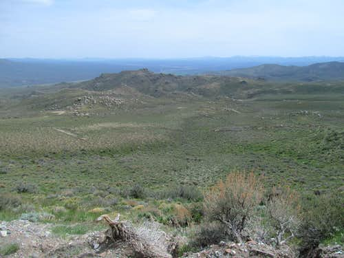 granite outcrops below