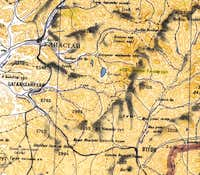 Scan of a topographic map of...