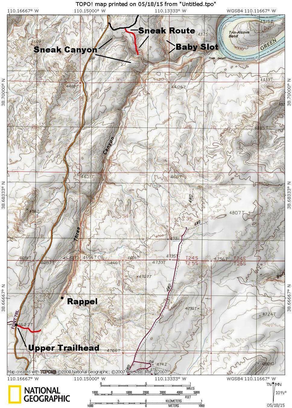 Three Canyon Map