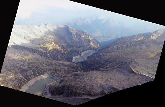 The Avio Valley and dammed...