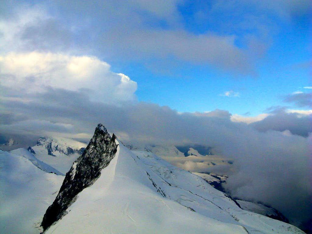 Rimpfishorn seen from the summit of Allalinhorn
